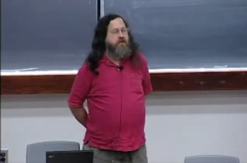 Richard Stallman talks about software patents