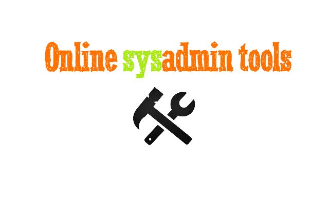 Online #sysadmin tools 7
