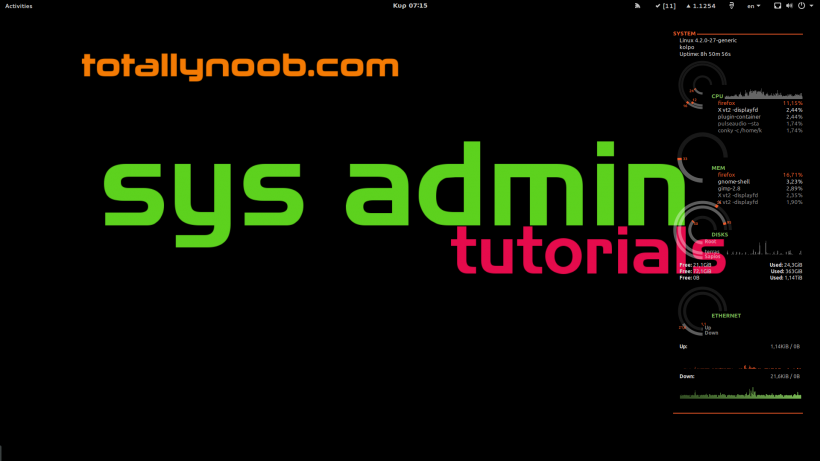 sysadmin tutorials conky totallynoob_orange