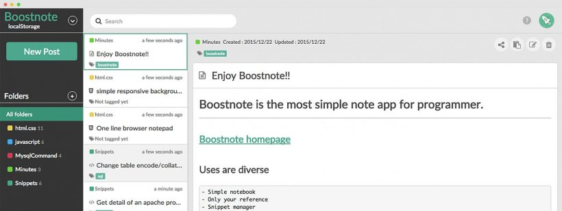 Boostnote is the new kickass note taking app for programmers 1