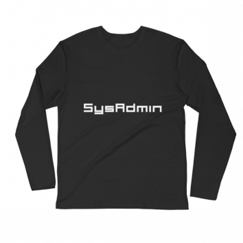 SysAdmin Long Sleeve Fitted Crew