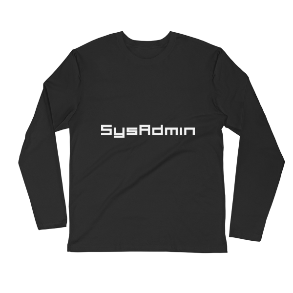 SysAdmin Long Sleeve Fitted Crew 2