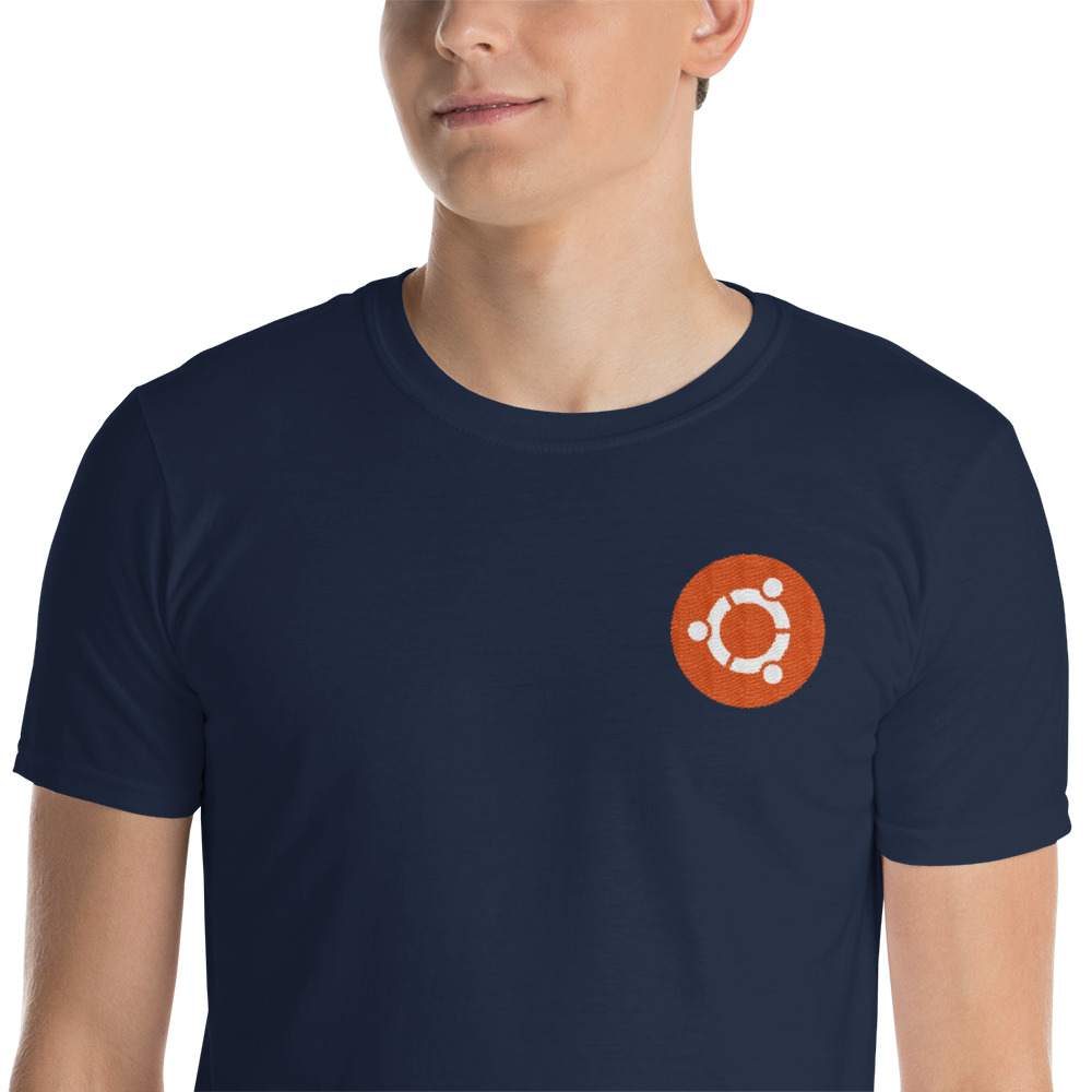 Embroided Ubuntu Badge T-Shirt 2