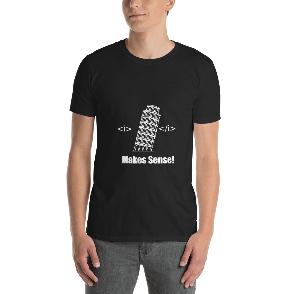 Pisa Tower HTML T-Shirt 2